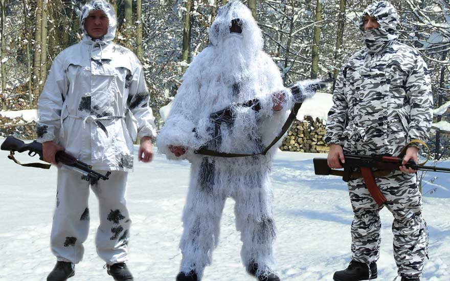 Описание: Образцы зимних костюмов Охота на гуся, маскхалаты, маскировочные...